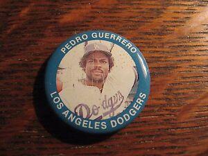 Pedro-Guerrero-Pin-Vintage-1984-Los-Angeles-Dodgers-Fun-Foods-MLB-Baseball-Pin