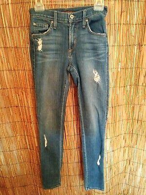 $158 JAMES JEANS FAUX FRONT POCKET TWIGGY LEGGING JEANS,Apricot,Size25,26,30,31