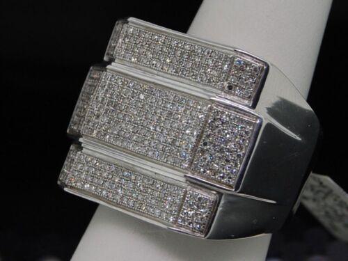 3.00 CT MEN/'S ROUND DIAMOND WEDDING BAND WHITE GOLD FINISH PINKY RING BAND