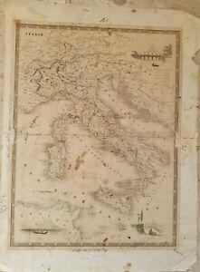 Cartina Geografica Antica.Antica Carta Geografica Dell Italia Del 800 Ebay