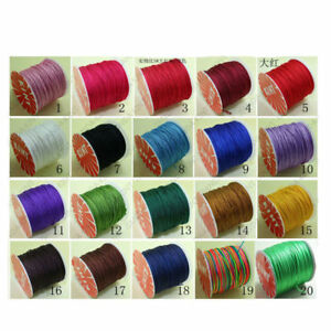 H-quality-Chinese-Knot-Cord-Rattail-Satin-Jewelry-Beading-Thread-100-Yards-New