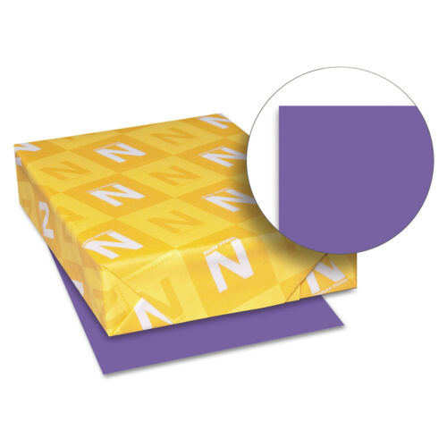 Neenah Paper Astrobrights Colored Paper 24lb 8-1//2 x 11 Gravity Grape 500 Sheets