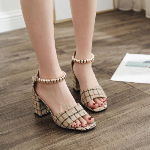 5 Sandali 7 Comodi Ciabatte Quadrato Donna Eleganti Cm 9779 Beige Tacco 0n0rH1wq