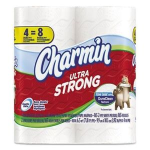 Charmin Ultra Strong Bath Tissue, 165 Sheets/Roll, 4 Ct (Pack of 10)