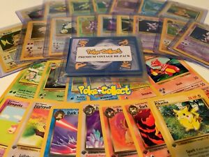 Pokemon-Card-Lot-Premium-Vintage-10-Card-Pack-1st-Edition-amp-Holo-Rare-INCLUDED