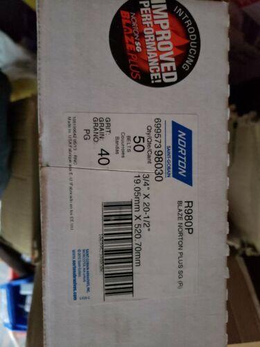"""699573 98030 GRIT 40 Norton R980P Blaze Norton Plus SG 3//4/"""" X 20-1//2/""""  QTY 50"""