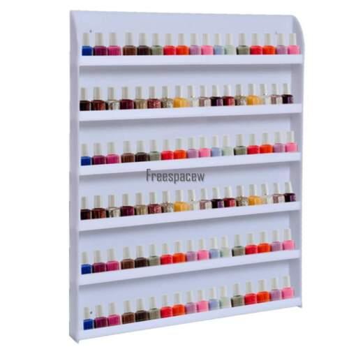 Nail Polish Wall Rack Acrylic Organizer 90 Bottles Display Holder Stand Clear