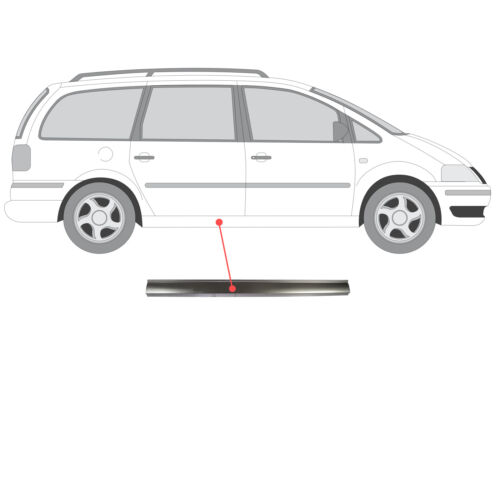 Tôle de réparation seuil gauche ou droit Ford Galaxy Seat Alhambra VW Sharan