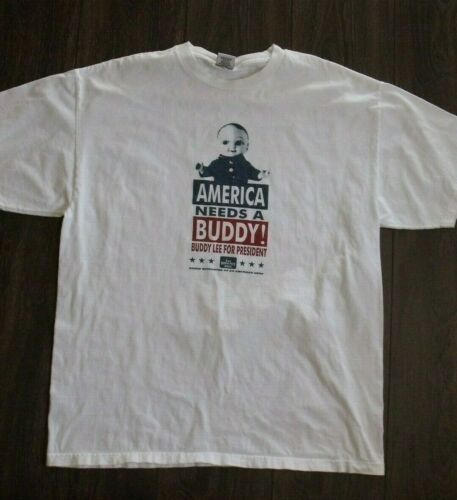 VTG Buddy Lee for President Lee Dungarees Tee XL M