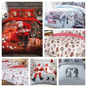 Christmas Xmas Kids Adult Duvet Quilt Cover Bedding Sets - Many Designs & Sizes