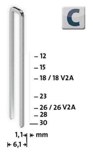 Steinel Tackerklammern Typ C 4//18 verzinkt 2000 Stück