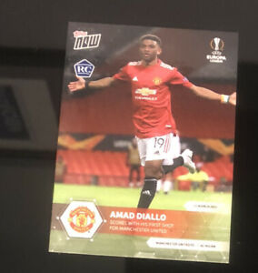AMAD DIALLO Rookie Manchester United - EL TOPPS NOW® UK Card #1