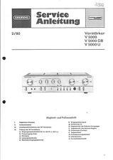 Grundig Service Manual für V 5000-GB-U