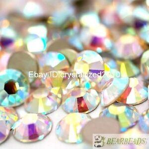 Crystal-AB-Top-Quality-Czech-Crystal-Rhinestone-Flatback-Nail-Art-Decoration-DIY