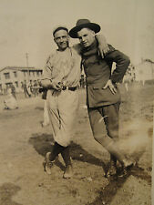 ANTIQUE WW1 BASEBALL FAMOUS? PLAYER TEAM ARMY MAP ? SERVICE ? SPIKES OLD PHOTO