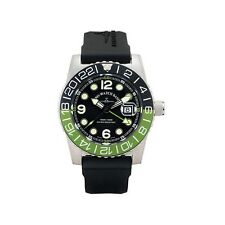 Zeno-Watch Basel Swiss Made Airplane Diver 6349Q-GMT-a1-8 Ronda Saphir 50 ATM