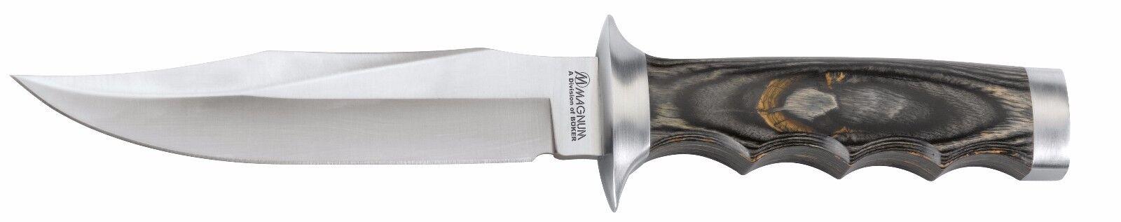 Böker Magnum Jungle Devil Jagdmesser Lederscheide mit Vortasche und Schleifstein    Preisreduktion