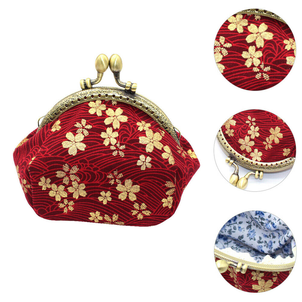 1Pc Bag Vintage Hot Stamping Portable Change Purse Coin Purse Wallet for Female