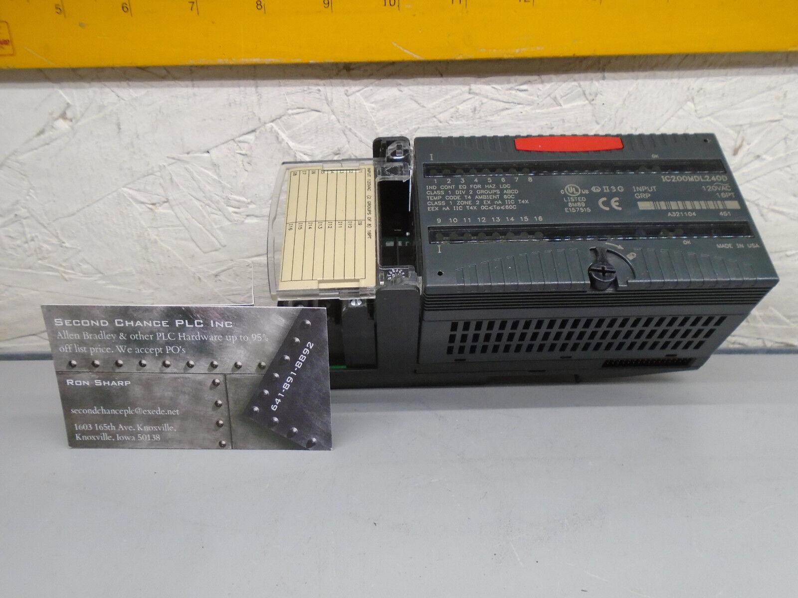 IC200MDL240 D GE Fanuc 120 vac Input  IC200MDL240D    W383