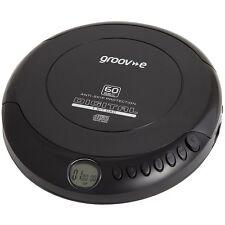 Groove Retro Series Reproductor de CD personal Compact Disc Discman Negro
