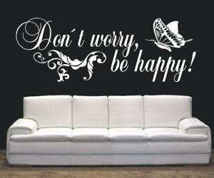 X3353-Wandtattoo-Spruch-Don-t-worry-be-happy-Sticker-Wandaufkleber-Aufkleber