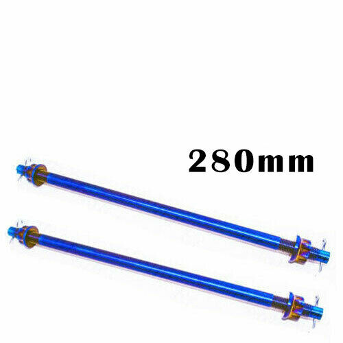 2pcs M12 Refitted Electrombile Titanium Axis Axle Roller with Nut for Motorcycle