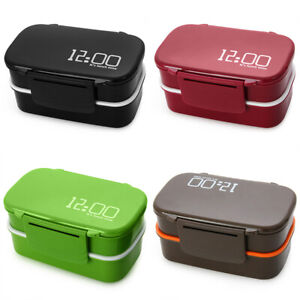 Plastic-Lunch-Box-Food-Container-Sandwich-Storage-Box-Double-Layer-Bento-Box-Set