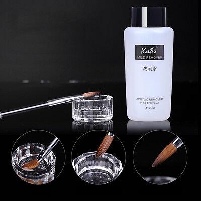 120ml Acrylic UV Gel Brush Cleaner Professional Nail Art Residure Remover Tool