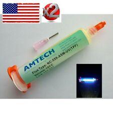 Twopcs Nc 559 Asm Uv Traceable Solder Paste Flux No Clean Tacky 10cc