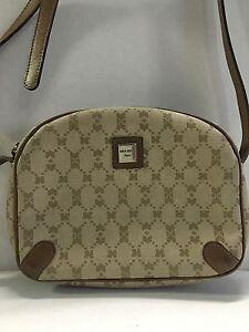 84c75166118 Nina Ricci Women's Handbag Leather Monogram Canvas Cross Body Bag ...