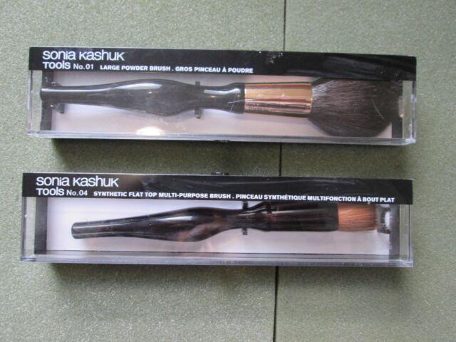 2 Sonia Kashuk Tools No.1 & 4 Large Powder/MULTIPURPOSE  Brush BRAND NEW