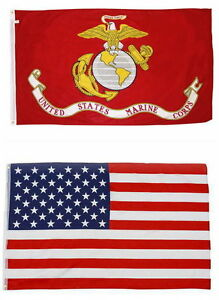 Wholesale Combo Lot 2x3 ft USA Flag /& US Navy Ship 2x3 ft Flag Banner