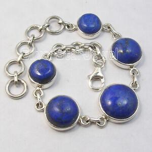 Sterling-Silver-Lapis-Lazuli-Bracelet-Wedding-SilverStarJewel-Jewelry