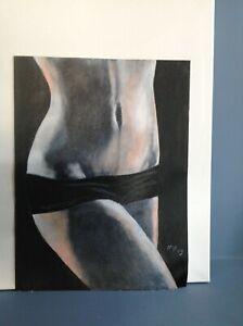 Original Acrylic Painting Woman Body Canvas Sheet 16 X 12 Art Decor Ebay