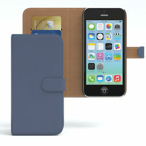 Case-for-Apple-iPhone-5C-case-wallet-protection-sleeve-cover-dark-blue