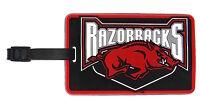 Arkansas Razorbacks Id Tag Travel Bag Tag Rubber Luggage Tag Ncaa