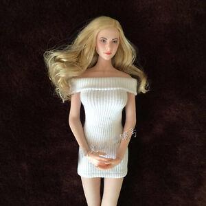 1/6 Scale White Knite Dress Model for 12 Female Action