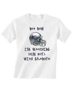 Dallas Cowboys Tshirt Toddler T-Shirt Watching Dem Boys With Grandpa