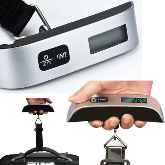 Portable 50kg/10g Hanging Electronic Digital Travel Suitcase Luggage Scales SH