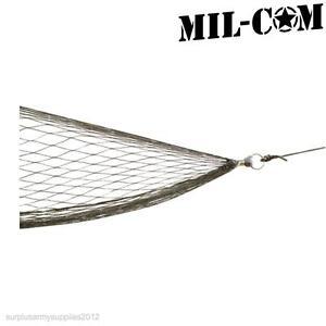 MILCOM MILITAR NAILON HAMACA RED BOLSO ALMACENABLE REFORZADO ACAMPADA CAZA CAMA