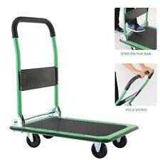 660 Lbs Platform Cart Dolly Folding Foldable Moving Warehouse Hand Move Truck Us
