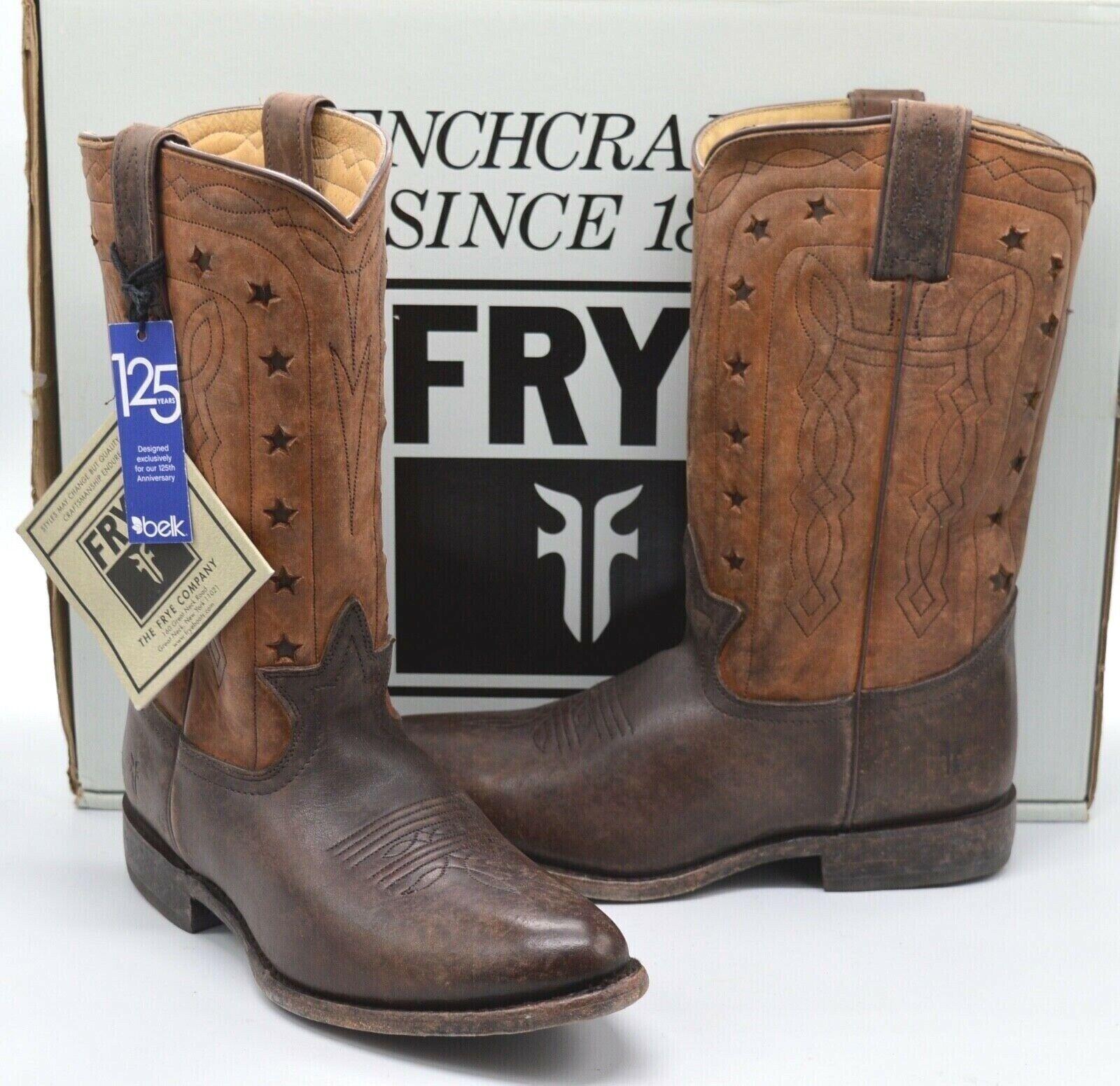 Frye Wyatt Americana Cowboy Boot Dark