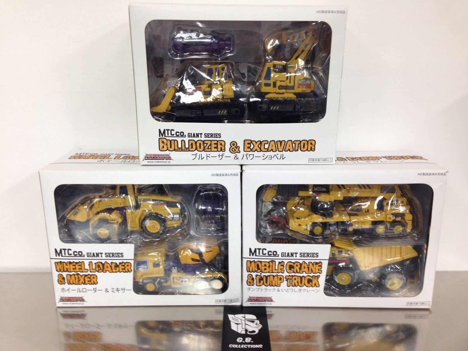 Transformers Maketoys MTC Co Giant Series Devastator G2 100% Complete