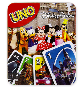 Disney-Theme-Parks-UNO-Card-Game-Collector-Tin-NEW