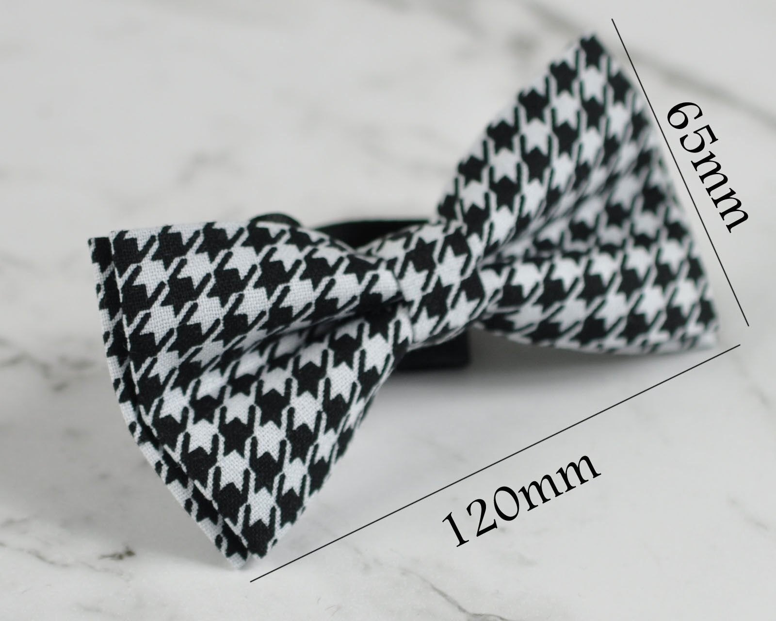 Men Black White Ruler Inches Pattern 100/% Cotton Hand Made Bow Tie Bowtie