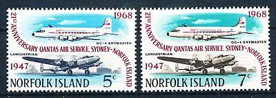 Luftfahrt Norfolk Insel Nr.98-9** Flugzeuge Festsetzung Der Preise Nach ProduktqualitäT Briefmarken Genossenschaft 300674