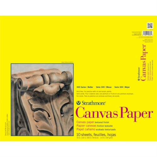 """Strathmore Canvas Paper Pad 16/""""x20/""""-10 Sheets"""