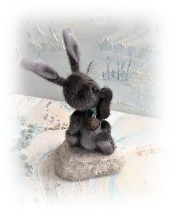 4-034-Faux-Fur-Little-Baby-Bunny-Rabbit-Teddy-Bear-OOAK-jointed-Artist-one-off
