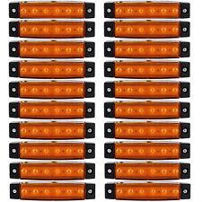 20x 6 LED Side Marker Indicators Lights Lamp Lorries Truck Trailer Clearance 12V
