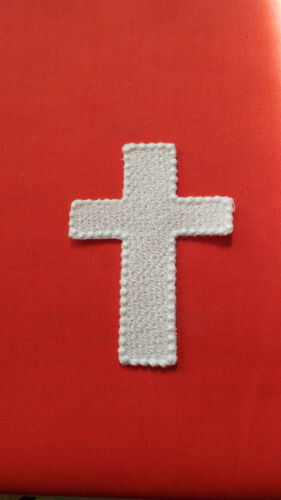Apliques Hierro on//sew sobre adornos 9 X 7cm Boda Blanco Guipur Encaje Motif